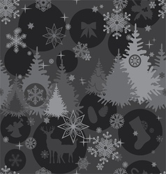 Christmas background in gray colors vector