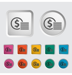 Coins vector image vector image