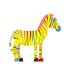 Colored zebra Colorful zebra Colorful stripes on vector image