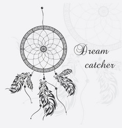 dream catcher white background vector image vector image