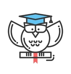 Education flat design single isolated icon vector image vector image