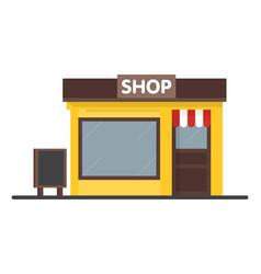 Facade shop store icon with signboard template vector