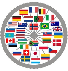 Flags of countries of the Tour de France 2013 vector image vector image