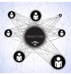 Geometric connections vector image vector image