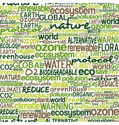 Go green words seamless pattern vector