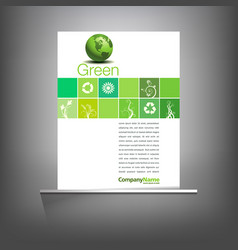 Green environmental page template vector