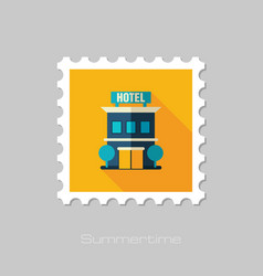 Hotel stamp summer vacation vector