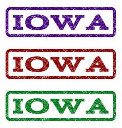 Iowa watermark stamp vector