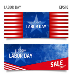 labor day horizontal banners vector image vector image