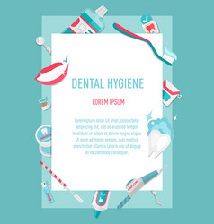 Medical teeth hygiene infographic leaflet vector