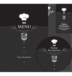 menu waiter vector image