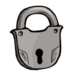Old lock vector image