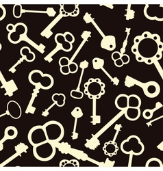 Seamless pattern with antique keys vector image