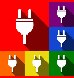 socket sign set of icons vector image