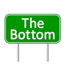 The bottom road sign vector