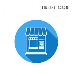 thin line icons set cashbox ticket window food vector image vector image