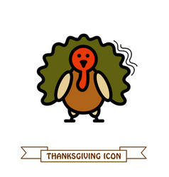 turkey icon harvest thanksgiving vector image