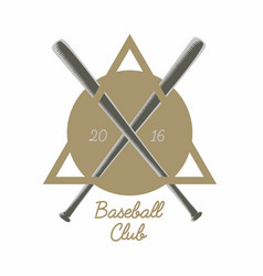 vintage baseball club logo emblem badge or vector image