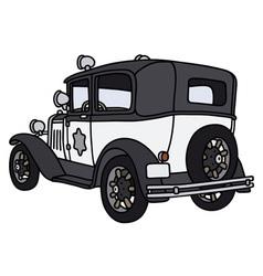 Vintage police car vector