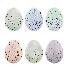 Watercolor Easter eggs set vector image vector image