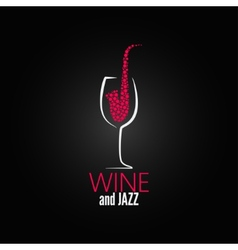 wine glass jazz design concept background vector image
