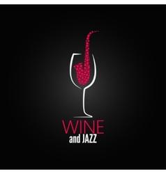 Wine glass jazz design concept background vector