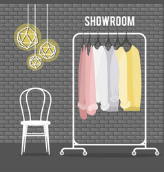 With coat rack vector