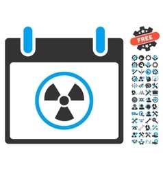 Atomic calendar day icon with bonus vector