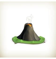 Volcano icon vector image
