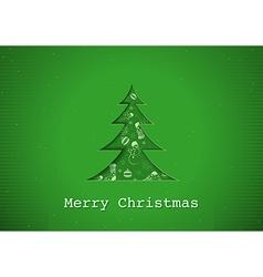 Green Christmas Greeting vector image