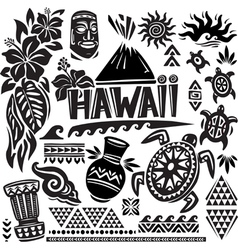 Hawaii set vector