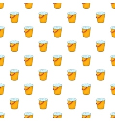 Orange bucket pattern cartoon style vector image