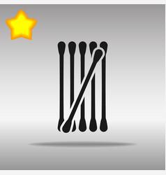 Cotton buds black icon button logo symbol vector