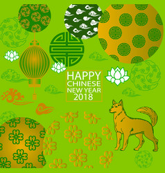 2018 chinese new year paper cutting year of dog vector image