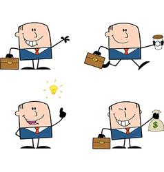 Cartoon businessman vector image