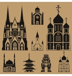 Cathedrals and churches vector
