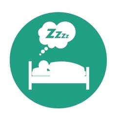 Sleeping person design vector