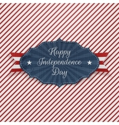 Independence day red blue and white holiday label vector