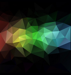 abstract rainbow polygon background vector image vector image