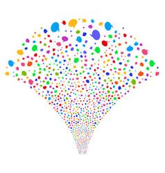 Balloon fountain stream vector