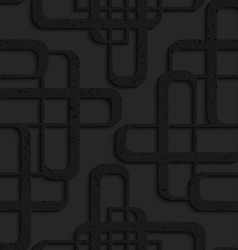 Black textured plastic overlapping futuristic vector