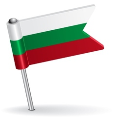 Bulgarian pin icon flag vector image vector image