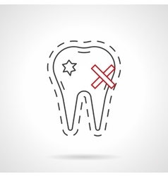 Caries flat line icon vector