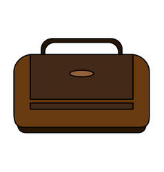 Color image executive bag with handle vector