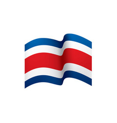 Costa rica flag vector