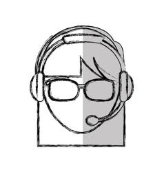 Customer service agent avatar vector