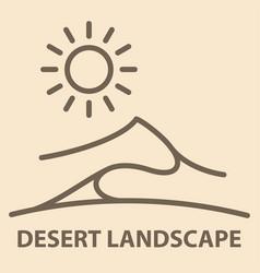desert landscape banner vector image