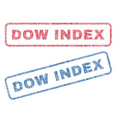 Dow index textile stamps vector