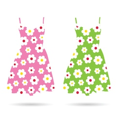 Dresses color vector