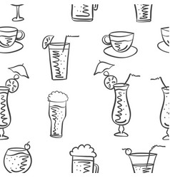 Drink doodle style vector